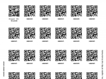A sticker sheet created by QR Code PDF Sticker Sheets