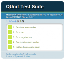 QUnit Screenshot