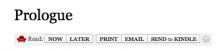 Readability button under the node title