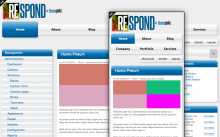 Respond - Responsive CSS3 Enhanced Omega Subtheme
