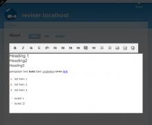 revisor inline content editing