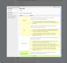 Screenshot of Content Optimizer