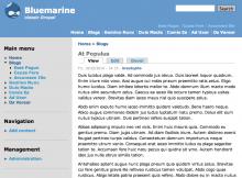 Screenshot of the Bluemarine theme