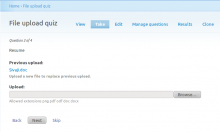 File upload quiz