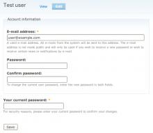 Password change confirm screenshot