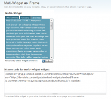 Embed Widgets in Action