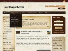 Admire Grunge Drupal theme by Worthapost.com