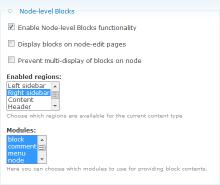 Setup node-type