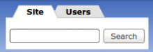 Search users block integrated with quicktabs