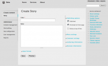Create content page