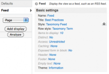 Taxonomy Feed Views Integration