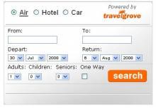 travelgrove travel meta search tool