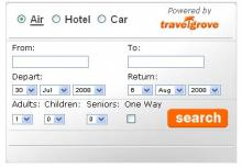 travelgrove travel meta search tool