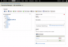 Taxonomy Manager Interface (7.x)