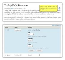 Tooltip Field Formatter screenshots