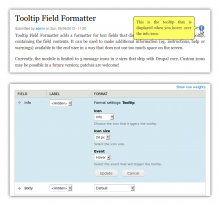 Tooltip Field Formatter screenshots