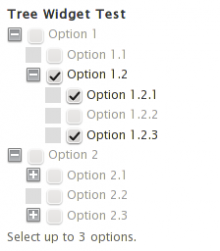 Dynamically limiting the number of selections by disabling remaining options