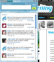 Tweetboard integrated on elearning.psu.edu
