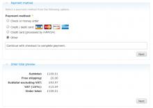 uc_checkout_preview sample screenshot