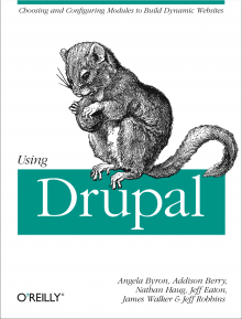 Using Drupal book cover