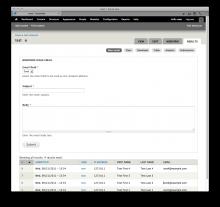 Webform Mass Email form