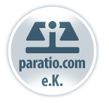 Scale symbol with Text: paratio.com e.K.