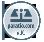 Scale symbol with Text: paratio.com e.K.