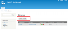 Create Courses - WizIQ Virtual Classroom Plugin (Drupal)