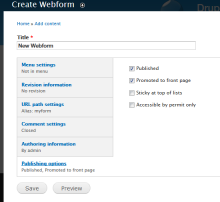 Attaching to a webform