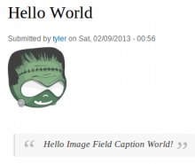 Screenshot of Image Field Caption for Drupal in Action
