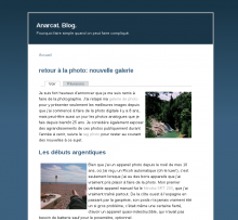 A single page view of the barlow theme on my blog.