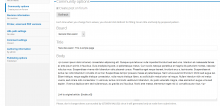 Community posting settings at node edit time.