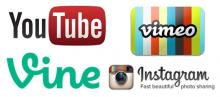 Facebook YouTube Vimeo Vine