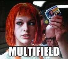 "An unhelpful shot from the movie ""Fifth Element"" of Leeloo saying ""Multifield"""