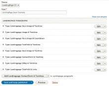 Native paragrap interface