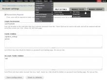 PRLP Admin Settings Page