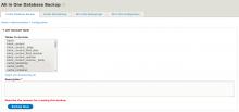 All in One Database Backup Drupal8