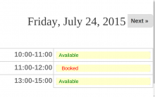 Availability Slot view