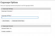 Backend Settings for API Key