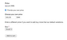 Choose price widget