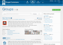 Drupal Commons Groups screenshot