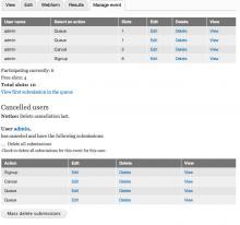 D7: Event management page