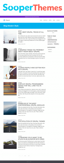 Glazed Drupal CMS Blog by SooperThemes