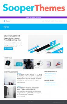 Glazed Drupal CMS by SooperThemess