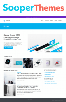Glazed Drupal CMS by SooperThemess