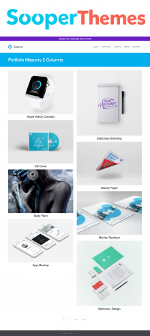 Glazed Drupal CMS Portfolio by SooperThemes