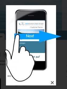 Lightbox2 Swipe gestures support