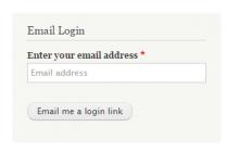Email Login Block