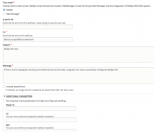 Mailjet API testing form