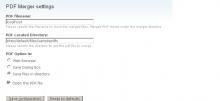 PDF merger configuration